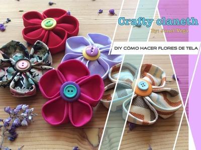 DIY cómo hacer flores de tela