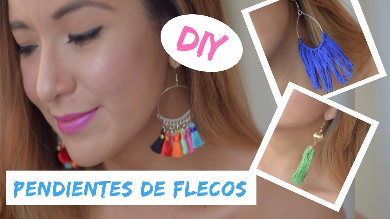 """DIY """"PENDIENTES DE FLECOS"""" PONTE A LA MODA"""