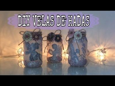 DIY Velas de Hadas,  recicla botes de vidrio