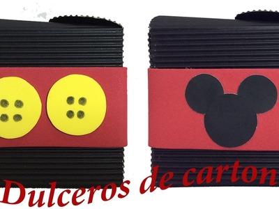 Dulceros de Mickey Mouse. Cajita de cartón.