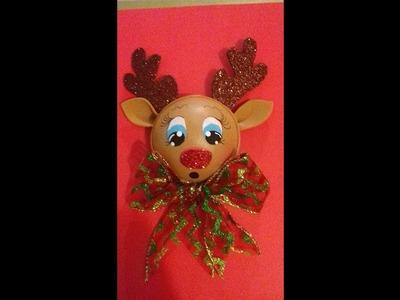 Esfera navideña de reno