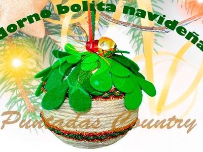 Esferas (Bolitas) Decorativas Navideñas- Hechas con Cuerda de Yute-