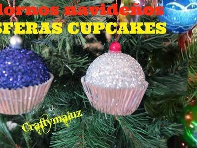 Esferas Cupcakes ESFERAS NAVIDEÑAS | adornos para navidad