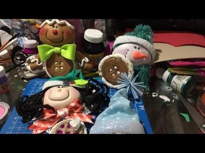 Esférita muñeco de nieve con Termoformas y Fomi moldeable