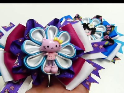 Flor de tela kanzashi, How to make  a hair Bow