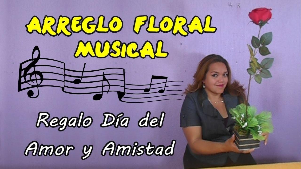 Flor Musical Arreglo Floral con Musica Personalizada Regalo Día del Amor con Tu voz Flores Musicales