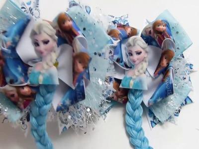 Frozen  Moño para Las Niñas,  Como Hacer Moño Tematico Frozen