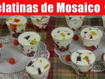 Gelatinas de Mosaico Individuales de Otoño - Recetas en Casayfamiliatv
