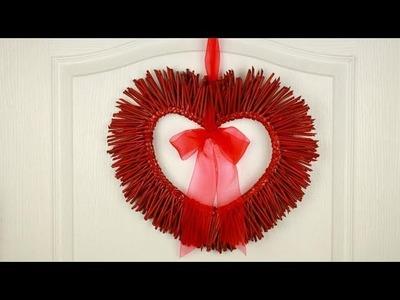 Guirnalda de San Valentín en forma de corazón