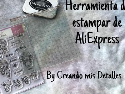 Herramienta de estampación para sellos de AliExpress (stamping tool)
