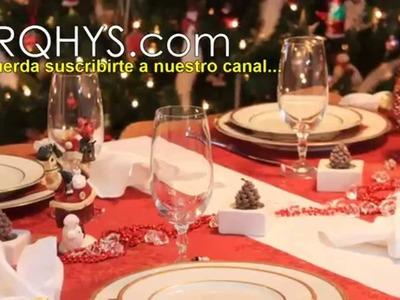 Ideas para decorar la mesa para la noche buena, y el año nuevo. Feliz navidad