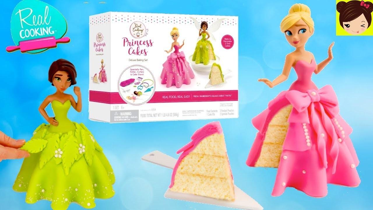 Juego para Hacer Pastel de Princesa con Vestido -  Reposteria para Niños