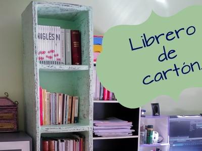 LIBRERO, ESTANTERÍA DE CARTÓN MUY RESISTENTE, IDEAS PARA ORGANIZAR TUS LIBROS
