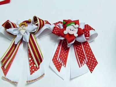 Lindos Lazos Moños de Liston Diseño Navidad