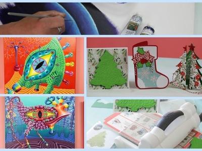 ManosalaObraTv Programa 92 - Ideas Navideñas - Maraton de Scrap - Pintar Cuadros