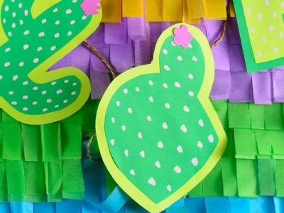 Manualidad Guirnalda de Cactus | Decoración para Fiestas