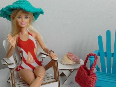 Manualidad : traje de baño sin coser + STOP MOTION cortometraje ???? DIY no sew swimsuit + short film