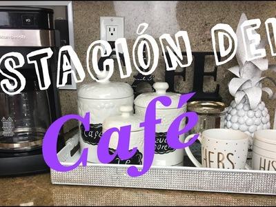 MI ESTACION DEL CAFE.TE PARA VERANO --- Como organizar un area para el cafecito