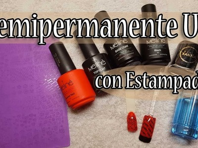 "Nail Art- Semipermanente UV Meline- Estampado ""Encapsulado"" -Tutorial"