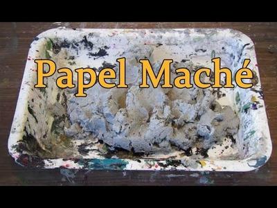 Papel Maché.Pasta de papel.