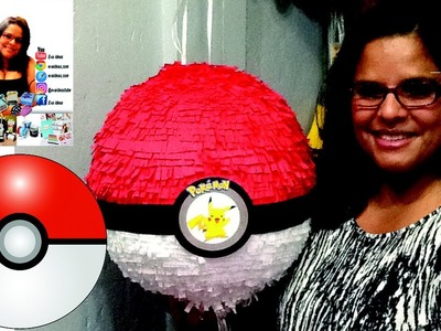 PIÑATA DE POKEMON POKEBOLA . How to Make a Pokéball Piñata - Pokémon