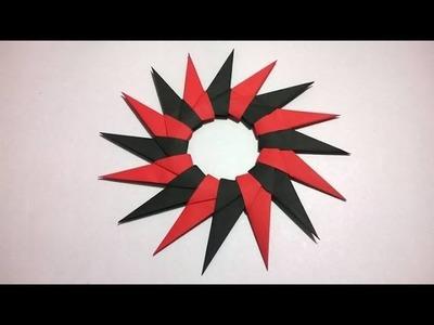 Shuriken Origami - Estrella Ninja 16 puntas de Papel