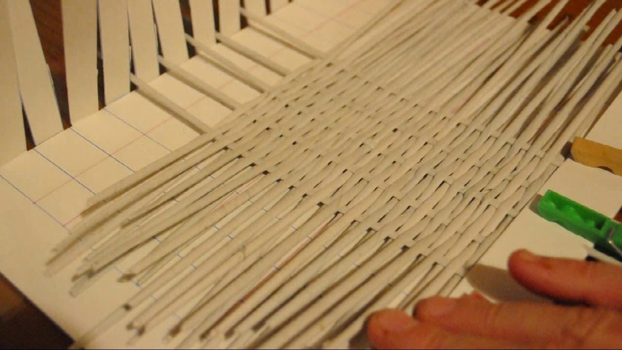 Telar de cartón (2): superficies trenzadas