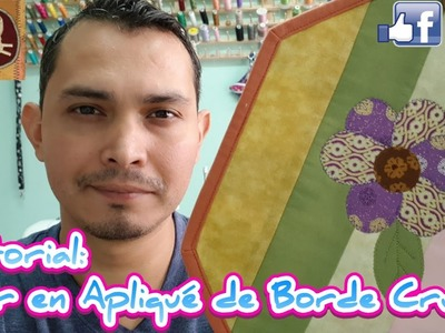 Tutorial: Flor en Apliqué de Borde Crudo (Quilting)