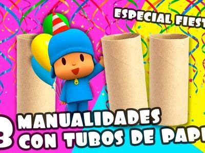 3 MANUALIDADES CON TUBOS DE PAPEL HIGIÉNICO_ESPECIAL FIESTAS|Manualidades Reciclaje|DIY