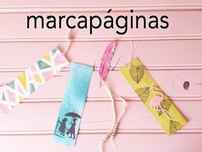 4 marcapáginas muy fáciles |  DIY marcapáginas | CON P DE PAPEL