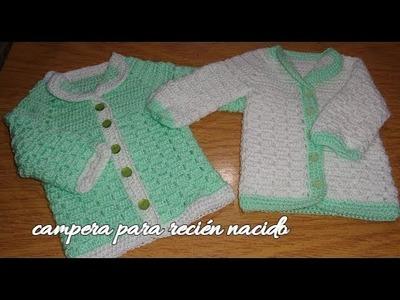Ajuar para bebés al crochet (Campera,saco o chambrita para recién nacidos)
