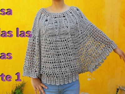 Blusa a crochet. Ganchillo. paso a paso.Blouses for summer - parte #1