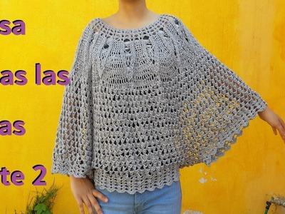 Blusa a crochet. Ganchillo. paso a paso.Blouses for summer - parte #2