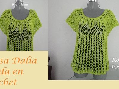 Blusa Dalia crochet