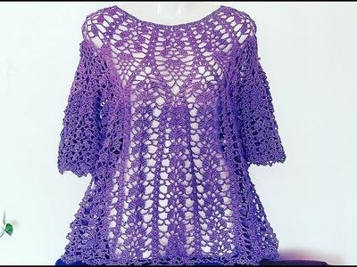 Bluson Piñas y Hojitas a Crochet Paso a Paso???? (#2)