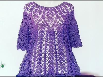 Bluson Piñas y Hojitas a Crochet Paso a Paso????( #1)