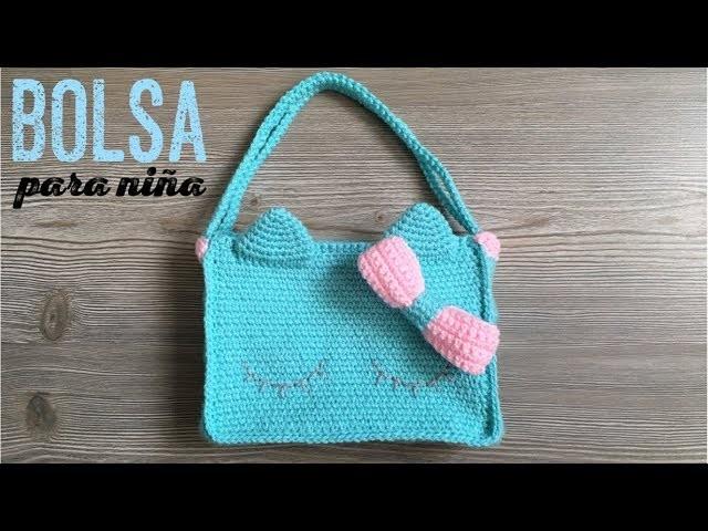 Bolsa para niña a crochet