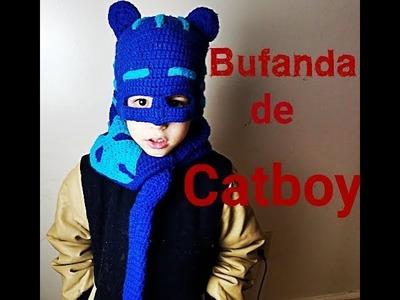 Bufanda de Catboy a crochet. Catboy crochet scarf