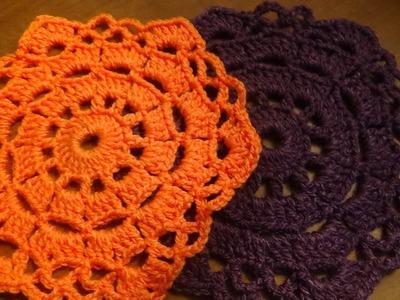 Carpeta o mantelito a crochet, muy fácil