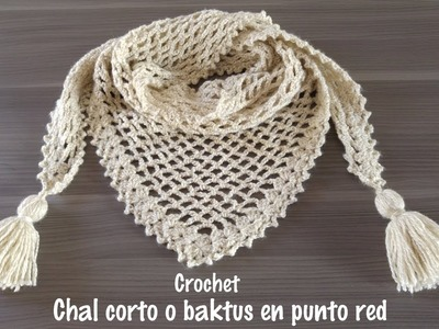 Chal a crochet en punto red