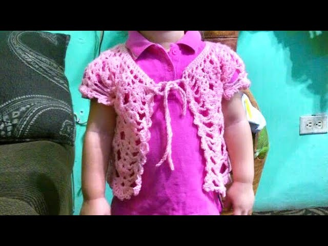 Chaqueta en Crochet para Niñas de 1 a 2 Años - Adorable Crochet Vest for  Girls Ages 1 - 2 yrs. old
