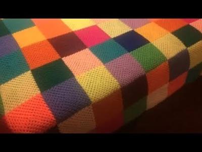 Cobertores tejidos a crochet