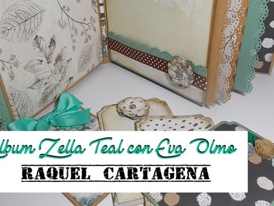 Colaboración con Eva Olmo DIY tutorial álbum Prima Marketing Zella Teal scrapbooking