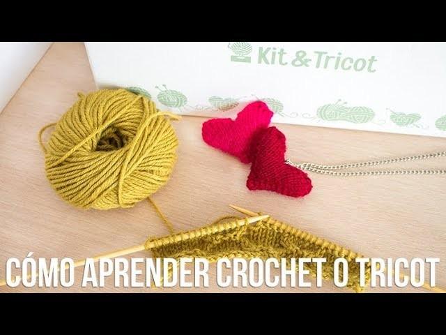 Cómo aprender crochet o tricot con proyectos paso a paso