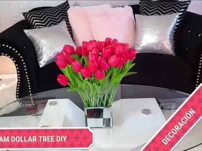 ????Como hacer centros de mesa ????????diy dollar tree Centros de mesa.ideas para decorar tu mesa elegante