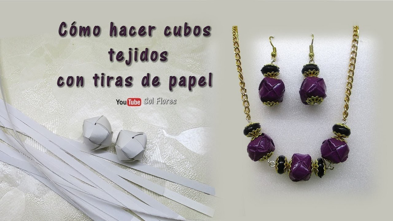 Cómo hacer cubos tejidos con tiras de papel - How to make knitted buckets with paper strips