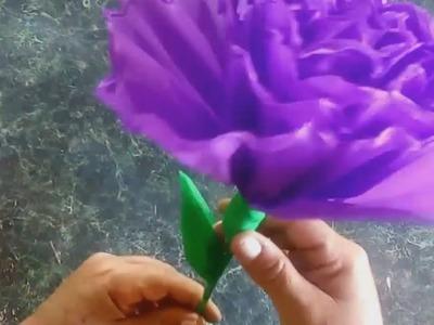 CÓMO HACER FLORES DE PAPEL CREPÉ,,,HOW TO MAKER FLOWER PAPERS.