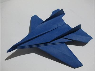 Como Hacer un Avión de Papel F-14 Tomcat│avión de guerra