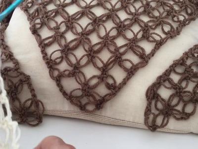 Como hacer un Chal en Triángulo en punto Salomon en Crochet