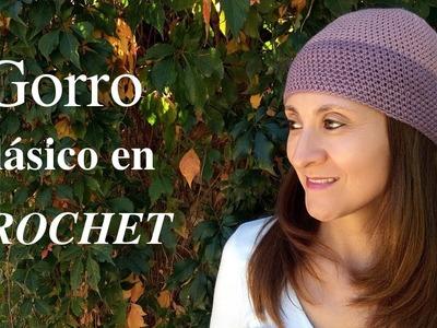 Como hacer un #gorro clásico a crochet o ganchillo tutorial paso a paso. Moda a Crochet